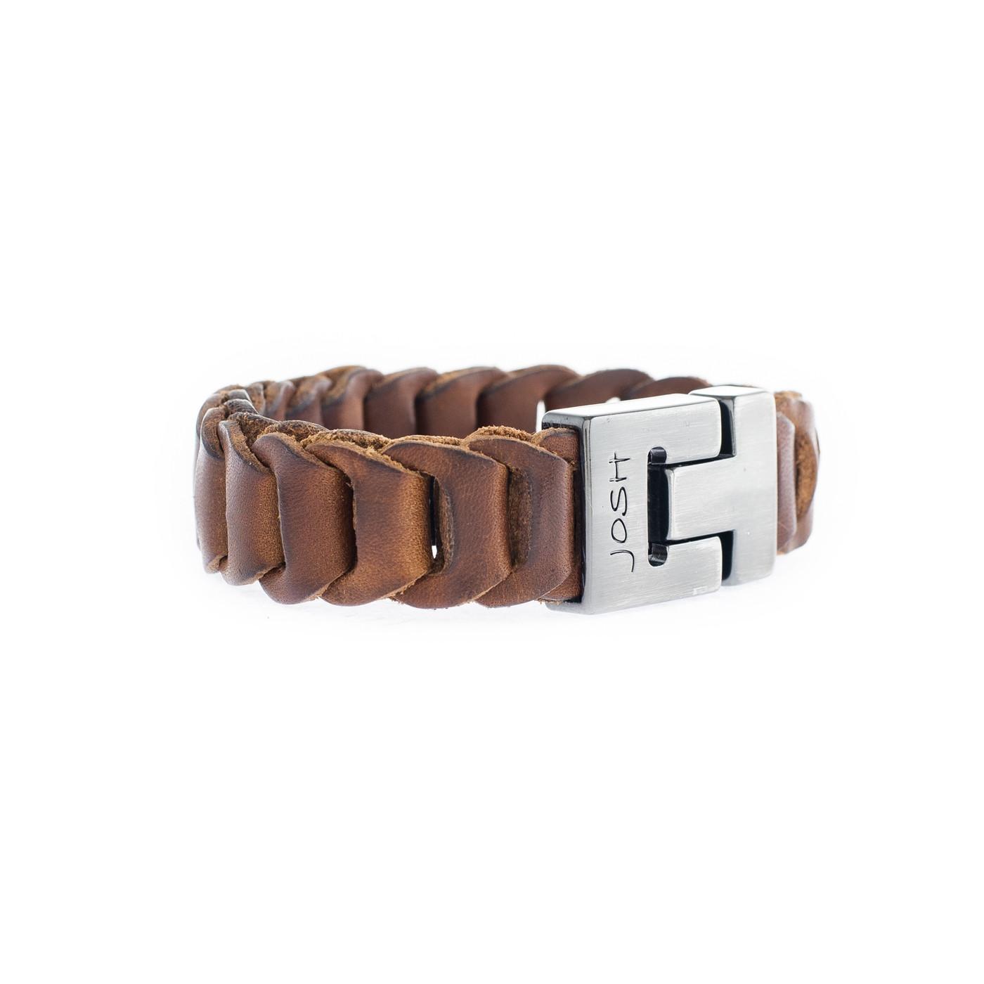 Josh Cognac Armband 24843-SB-COGNAC (Lengte: 21.00-23.00 cm)