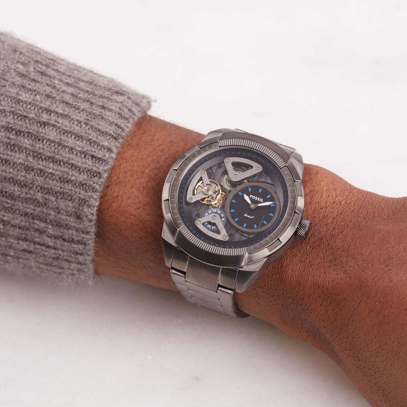Fossil Bronson Twist horloge ME1171