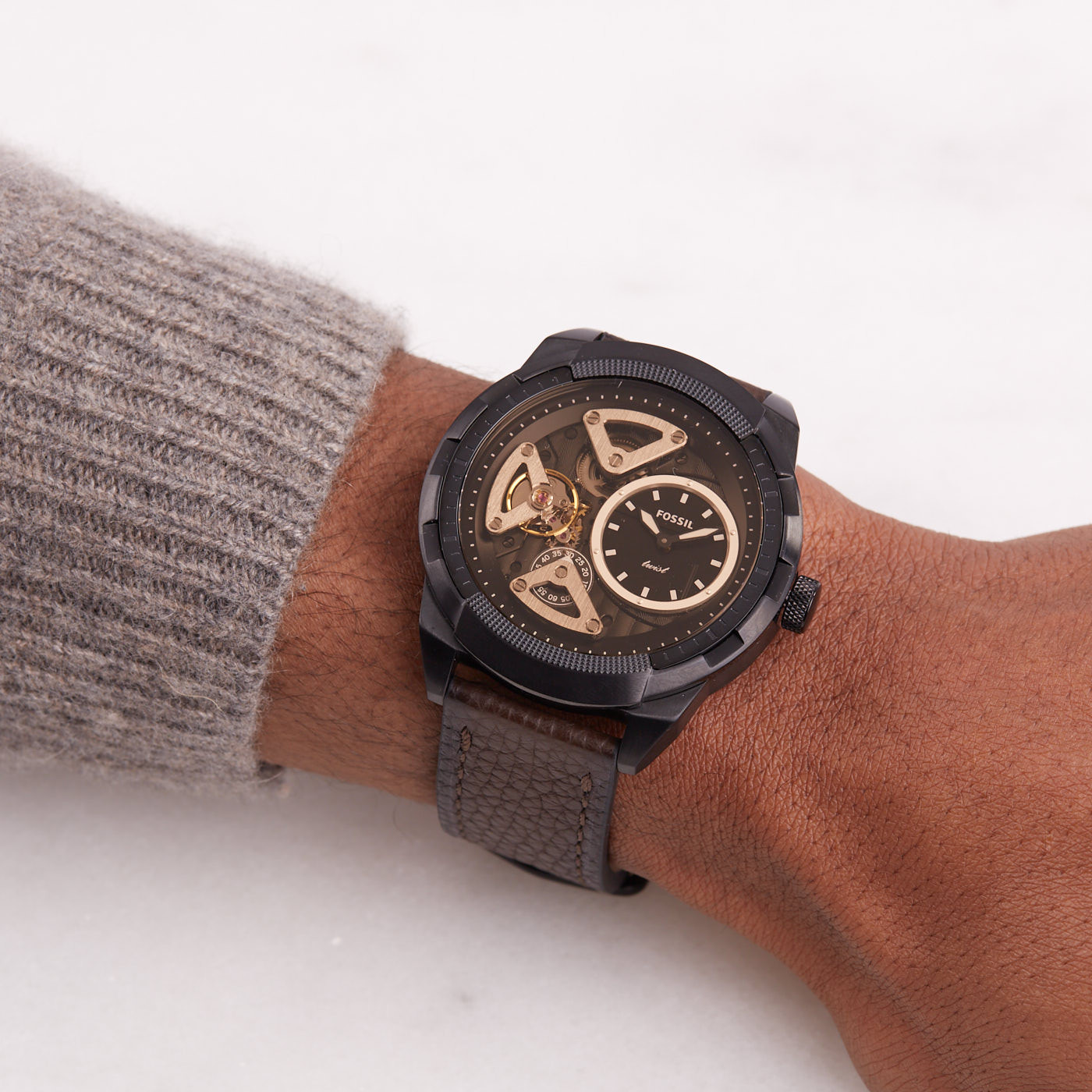 Fossil Bronson Twist horloge ME1172
