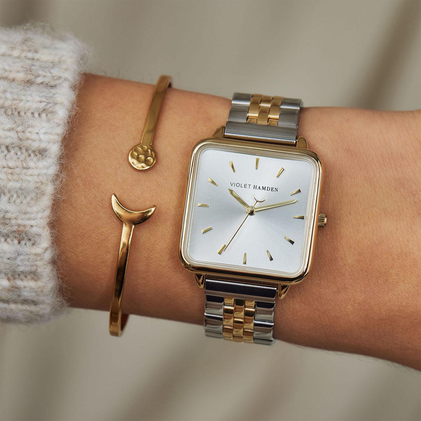 Violet Hamden The Dawn Zilver -en Goudkleurig horloge VH03006