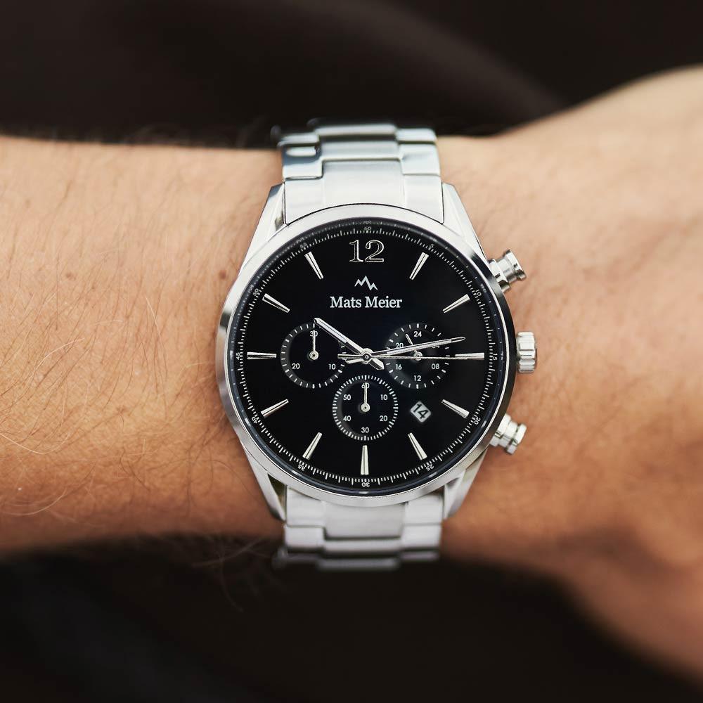 Mats Meier Grand Cornier Chrono Zwart/Zilverkleurig horloge MM00110