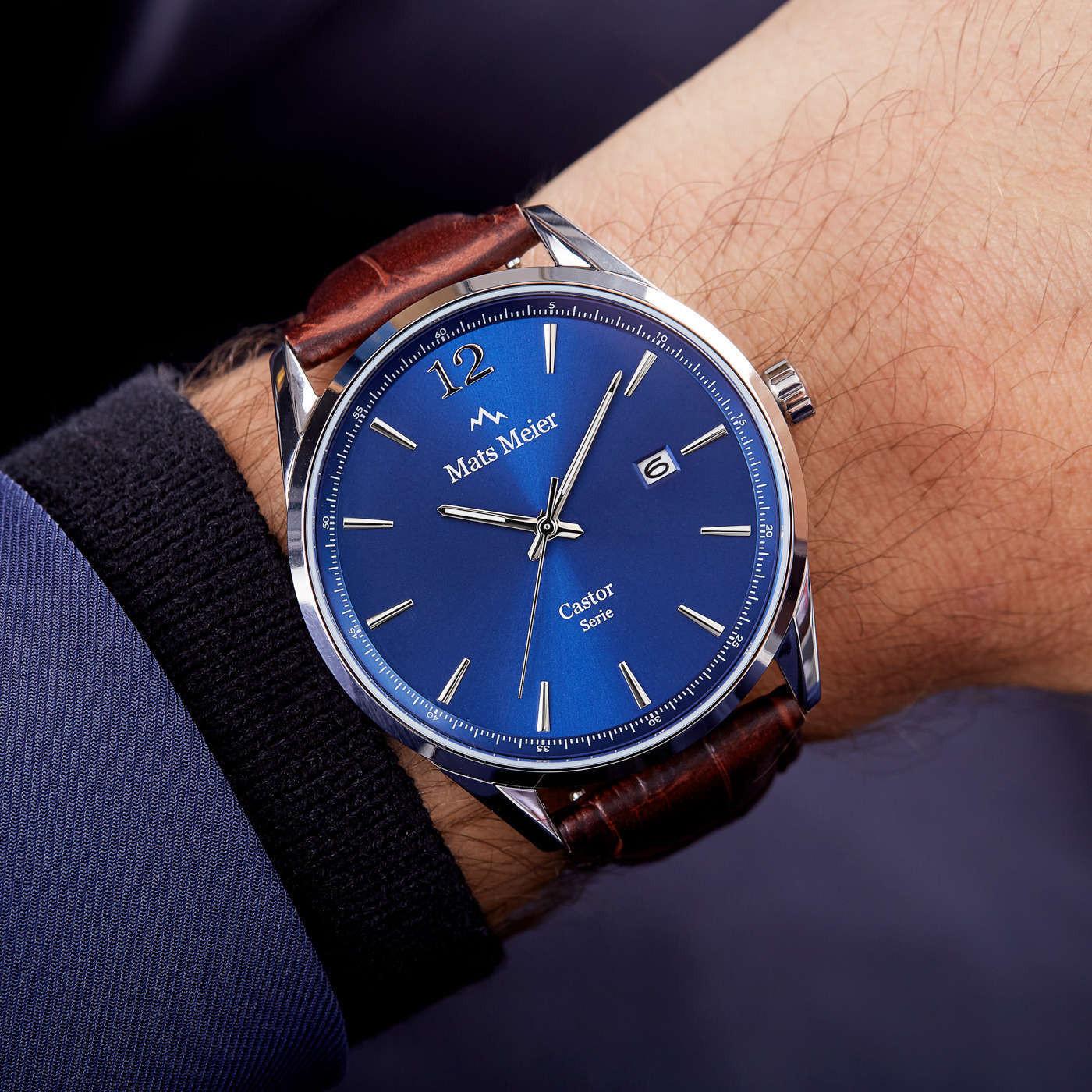 Mats Meier Grand Combin Herenhorloge En Horlogeband Giftset MM90011