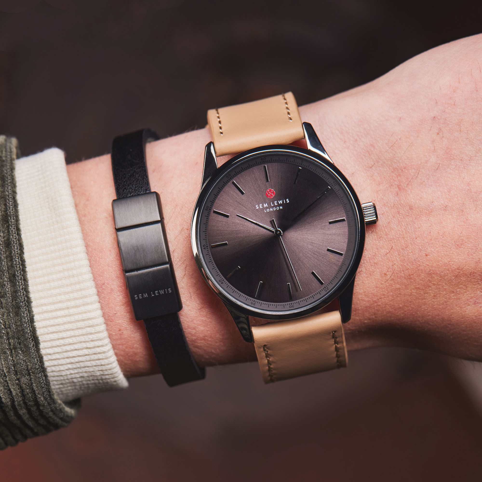 Sem Lewis Metropolitan Finchley Horloge en Strap Giftset SL90006