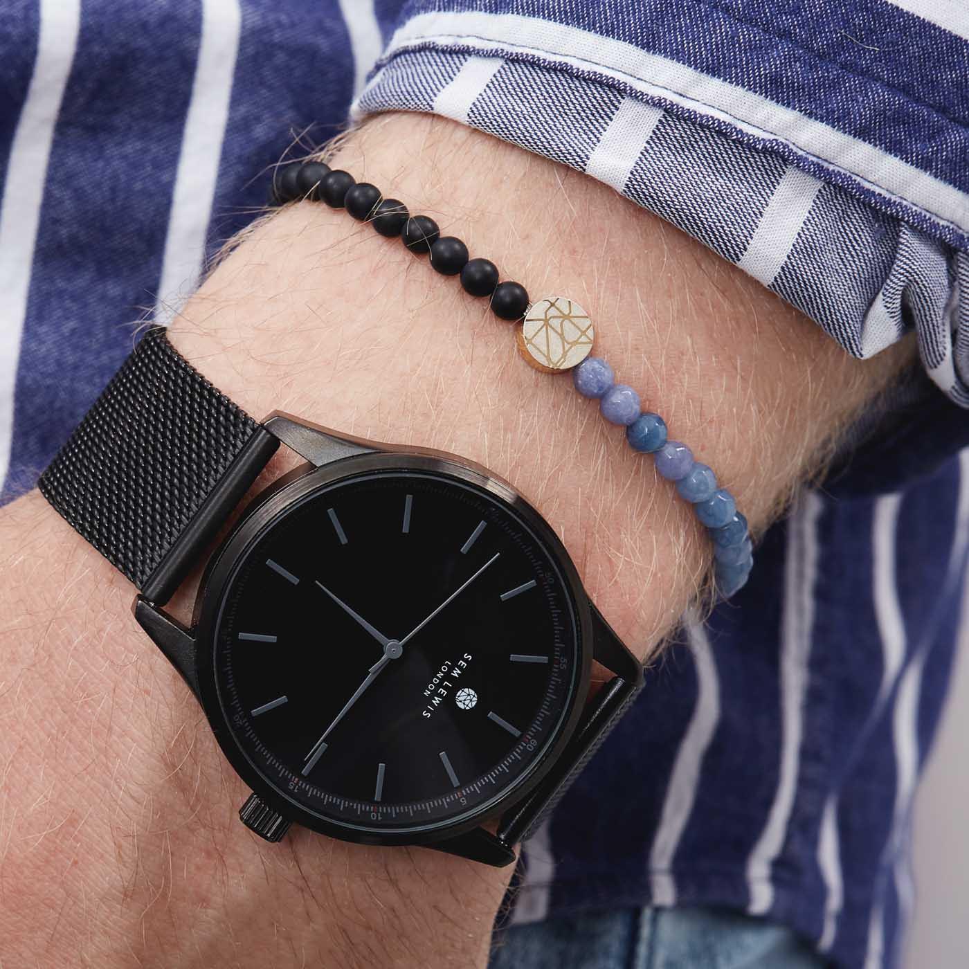 Sem Lewis 4mm Piccadilly King's Cross St. Pancras Armband SL220003 (Lengte: 17.50-19.50 cm)