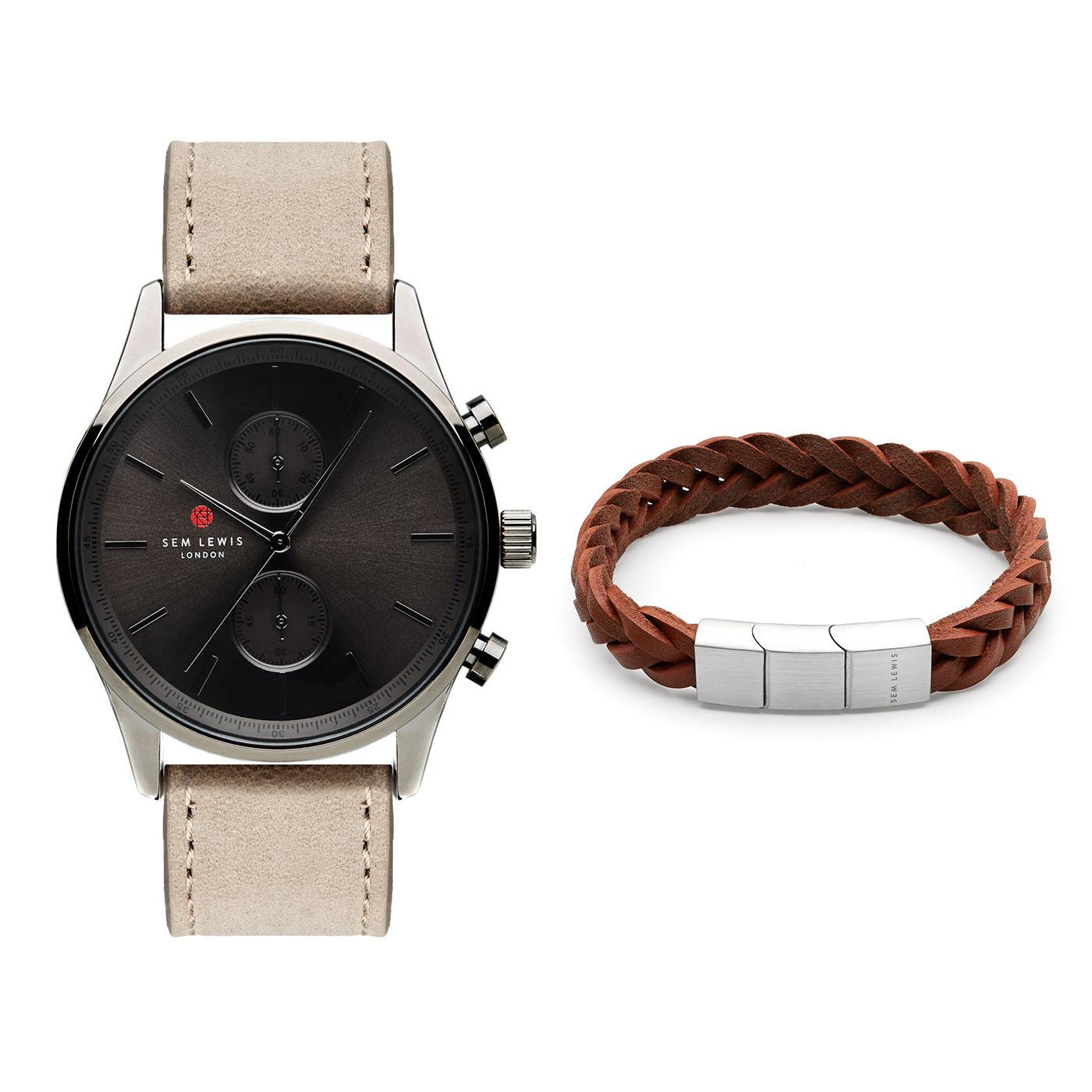Sem Lewis Metropolitan Chrono horloge en Bakerloo Paddington Armband giftset SL90001