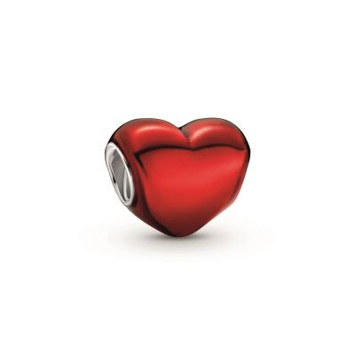 Pandora Colours 925 Sterling Zilveren Metallic Heart Bedel 799291C02