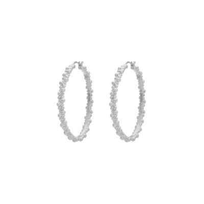 ANNA + NINA 925 Sterling Zilveren Essentials Cluster Hoop Oorbellen 18-2M902015BSP
