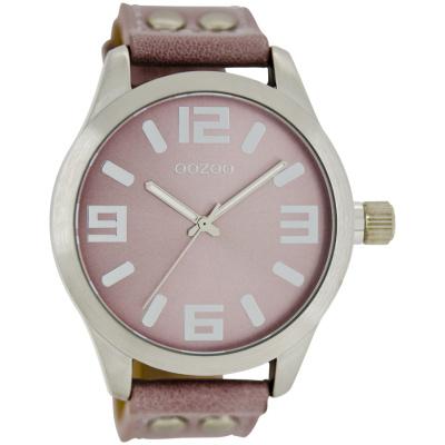 OOZOO Timepieces horloge Pink/Grey C1058 (46 mm)