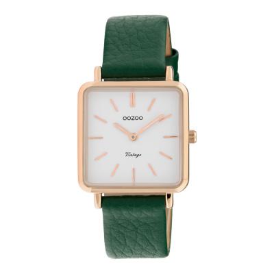 OOZOO Vintage Groen/Wit horloge C9949 (29 mm)