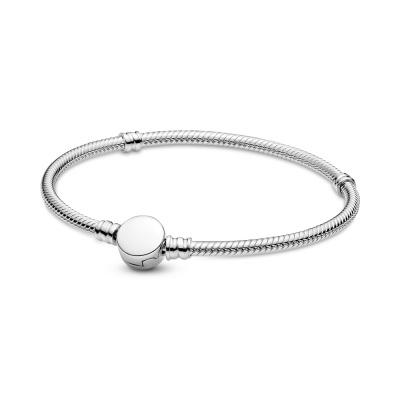 Pandora Moments Engravable Disc Clasp Snake Armband 599381C00