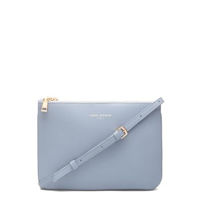 Isabel Bernard Femme Forte Florine sac à bandoulière en cuir de veau bleu clair IB26018