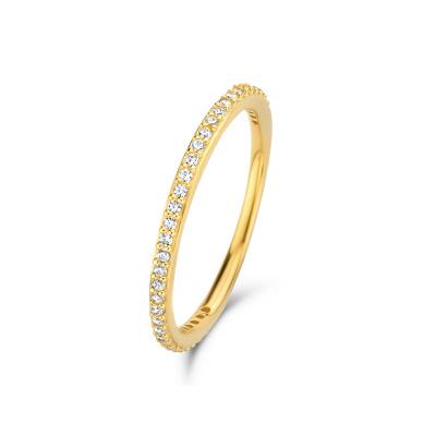 Isabel Bernard 14 Karaat Gouden Asterope Stones Stacking Ring IBGR00021