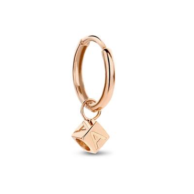 Isabel Bernard La Concorde Felie 14 Karaat Rosé Gouden Enkele Initial Creool IB360086 (Letter: A-Z)