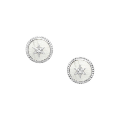 Fossil Sterling Silver boucle d'oreilles JFS00500040