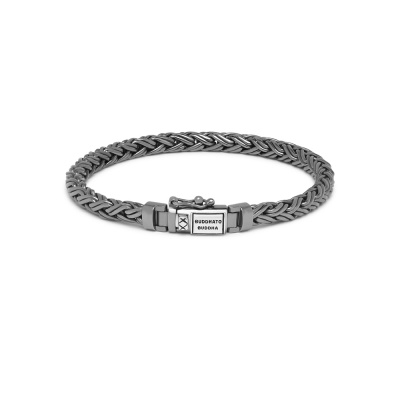 Buddha to Buddha Black Rhodium Heritage Katja XS Armband J170BRSS (Lengte: 17.00-21.00 cm)
