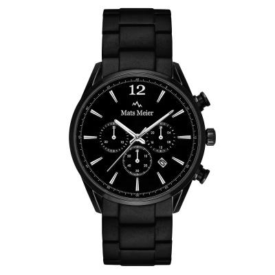 Mats Meier Grand Cornier Chrono Matt Zwart horloge MM00109