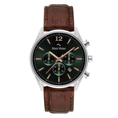 Mats Meier Grand Cornier Chrono Groen/Bruin horloge MM00121
