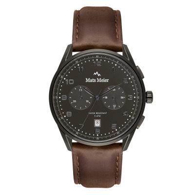 Mats Meier Mont Vélan chronographe noir / marron MM10005