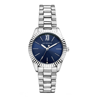 May Sparkle Luxurious Life River Zilverkleurig/Blauw horloge MSA005