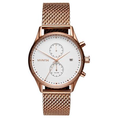 MVMT Voyager Wit/Roségoudkleurig horloge MV01-RGM (42 mm)