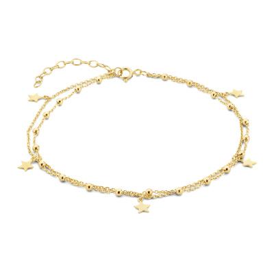 Selected Jewels Julie Esthée bracelet de cheville couleur or en argent sterling 925 SJ310005