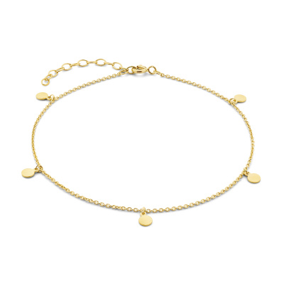 Selected Jewels Julie Belle bracelet de cheville couleur or en argent sterling 925 SJ310006