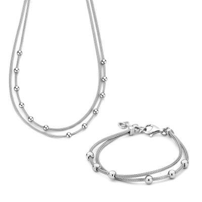Selected Jewels Selected Gifts ensemble bracelet et collier en argent sterling 925 SJSET380023