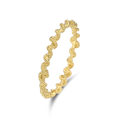 Violet Hamden Sisterhood Twisted Lunar 925 Sterling Zilveren Goudkleurige Ring VH13030G
