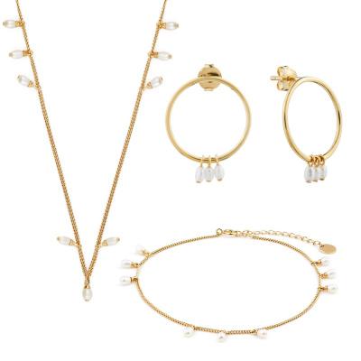 Violet Hamden Luminous Lake 925 Coffret cadeau bijoux en argent sterling doré VH90015